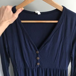Pinkblush Dresses - PinkBlush Maternity dress, long sleeve, navy blue
